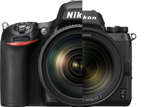 Comparación de tamaño Nikon D780 y Nikon Z6